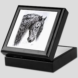 Frisian horse drawing Keepsake Box