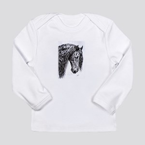 Frisian horse drawing Long Sleeve Infant T-Shirt