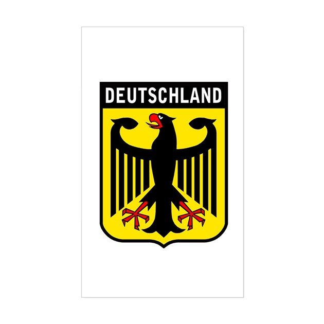 Deutschland Eagle Rectangle Decal by totaletees