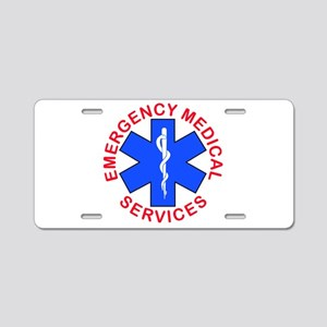 EMS, EMT emergency medical Aluminum License Plate