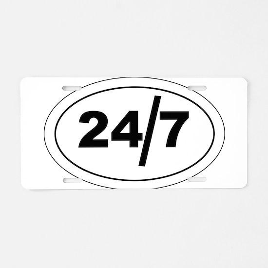24/7 Aluminum License Plate