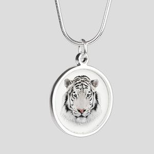 White Tiger Head Necklaces