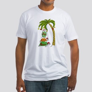 Hawaiian Christmas Santa Turtle Fitted T-Shirt