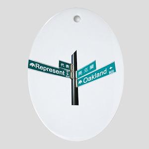 Corner of Represent and Oakla Ornament (Oval)