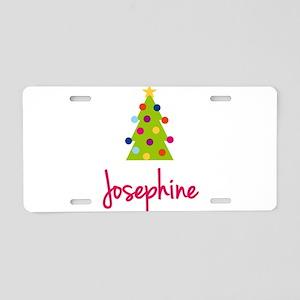 Christmas Tree Josephine Aluminum License Plate