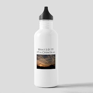 No Geoengineering Please Stainless Water Bottle 1.