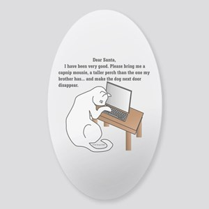 Dear Santa... Sticker (Oval)