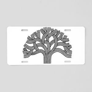Oakland Tree (light) Aluminum License Plate