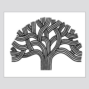 Oakland Tree (light) Small Poster