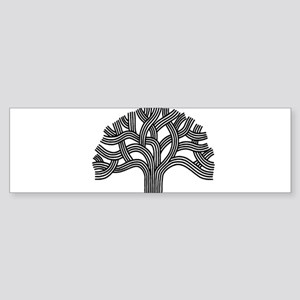 Oakland Tree (light) Sticker (Bumper)