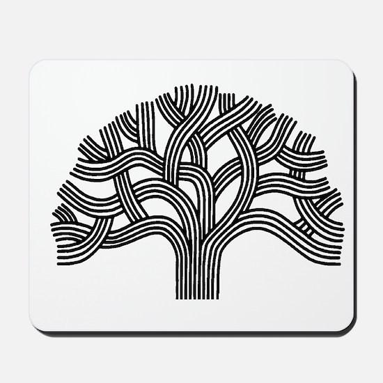Oakland Tree (light) Mousepad