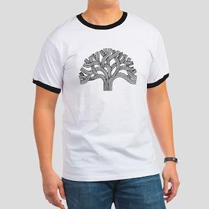 Oakland Tree (light) Ringer T