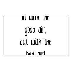Good Air Sticker (Rectangle 50 pk)