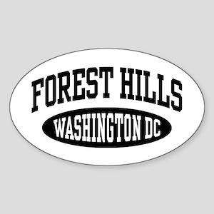 Forest Hills Washington DC Sticker (Oval)