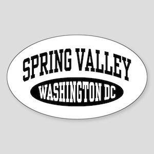 Spring Valley Washington DC Sticker (Oval)