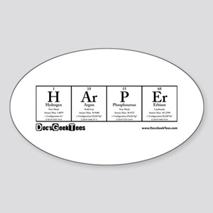H Ar P Er Transparent Sticker (Oval)