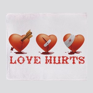 Love Hurts Throw Blanket