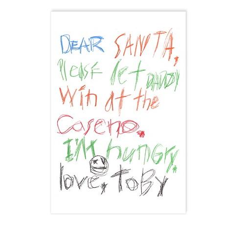 Dear Santa 2 Postcards (Package of 8)
