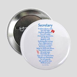 """Secretary Thank You 2.25"""" Button"""