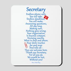Secretary Thank You Mousepad