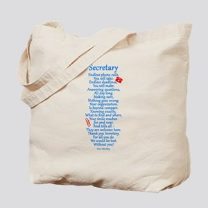 Secretary Thank You Tote Bag