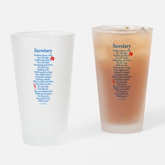 Secretary Thank You Drinking Glass