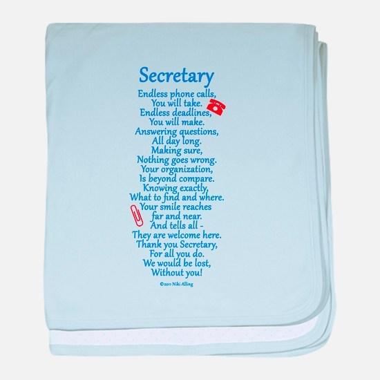 Secretary Thank You baby blanket