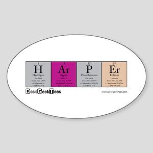H Ar P Er Color Backround Sticker (Oval)