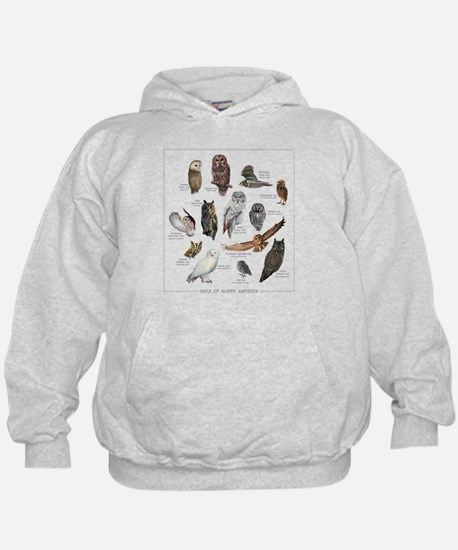 Owls of North America Hoody
