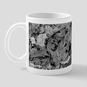 Great Dane Merle Painting in Black and White Mug