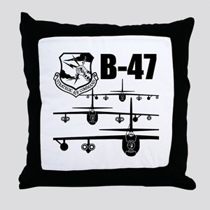 SAC B-47 Throw Pillow
