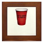 Let's Have A Party! Framed Tile