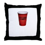 Let's Have A Party! Throw Pillow