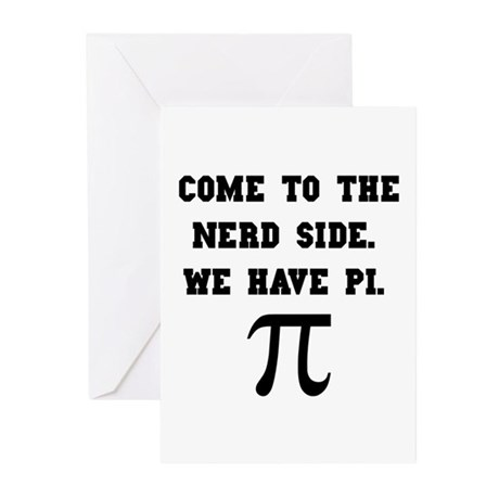 Nerd Side Pi Greeting Cards (Pk of 10)