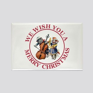 Christmas Cats Rectangle Magnet