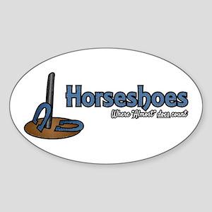Horseshoes Sticker (Oval)