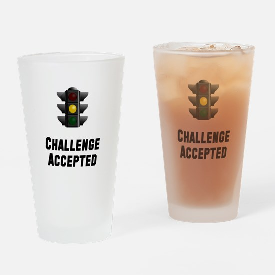 Challenge Accepted Light Drinking Glass