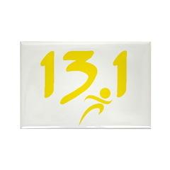 Yellow 13.1 half-marathon Rectangle Magnet (100 pa