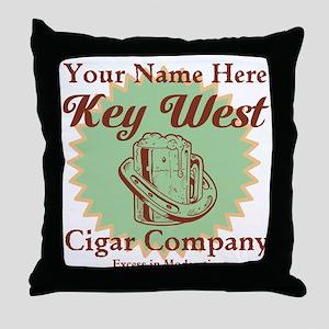 Key West Cigar Company Throw Pillow