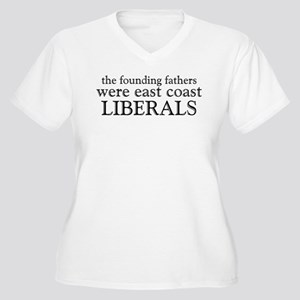 Founding Fathers Were Liberals Women's Plus Size V