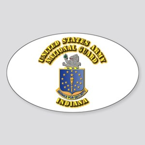 Army National Guard - Indiana Sticker (Oval)