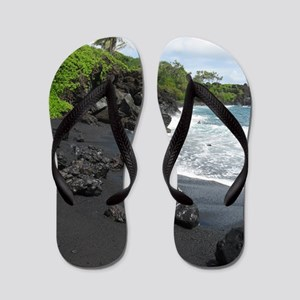 Black Sand Beach Flip Flops