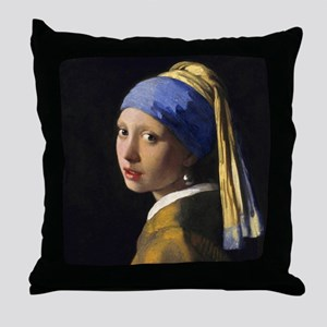 Vermeer Pearl Earring Throw Pillow