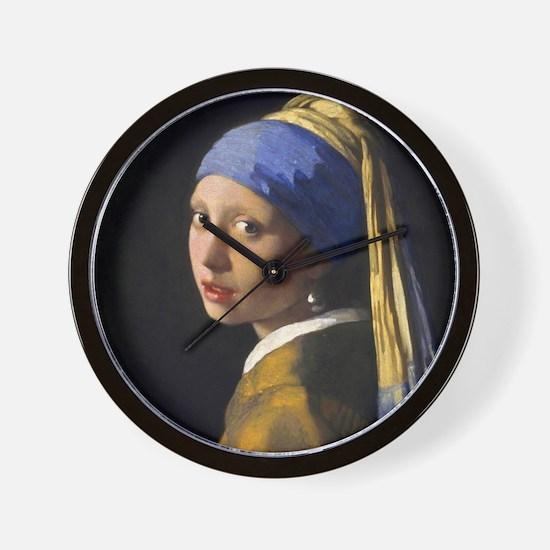 Vermeer Pearl Earring Wall Clock