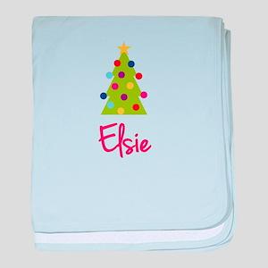 Christmas Tree Elsie baby blanket