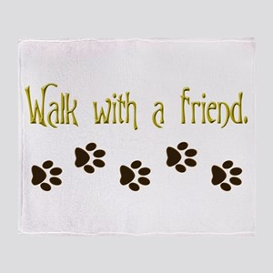 Walk With a Friend Throw Blanket