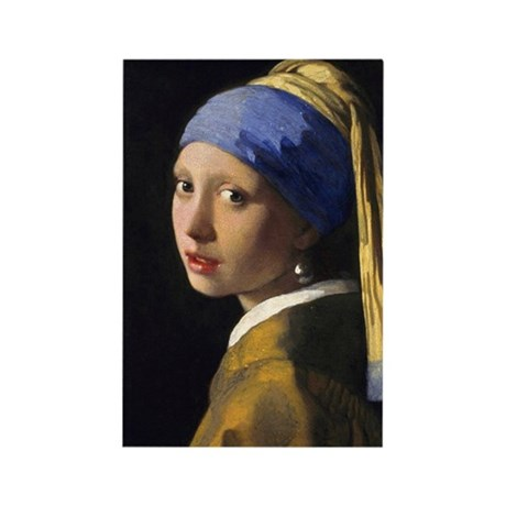 Vermeer Pearl Earring Rectangle Magnet