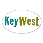 Key West Sticker (Oval 10 pk)