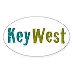 Key West Sticker (Oval 50 pk)