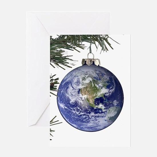 Blank Earth Ornament Greeting Card